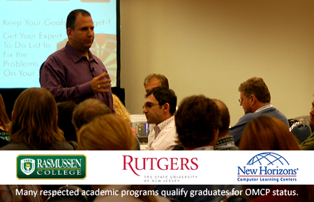 Earn OMCP through higher learning