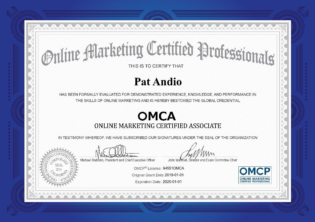 Omca Digital Marketing Certification Independent Industry Association