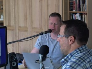Author Matt Bailey and Michael Stebbins Recording in the OMCP Studio