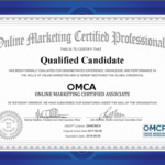 Example OMCA Certificate