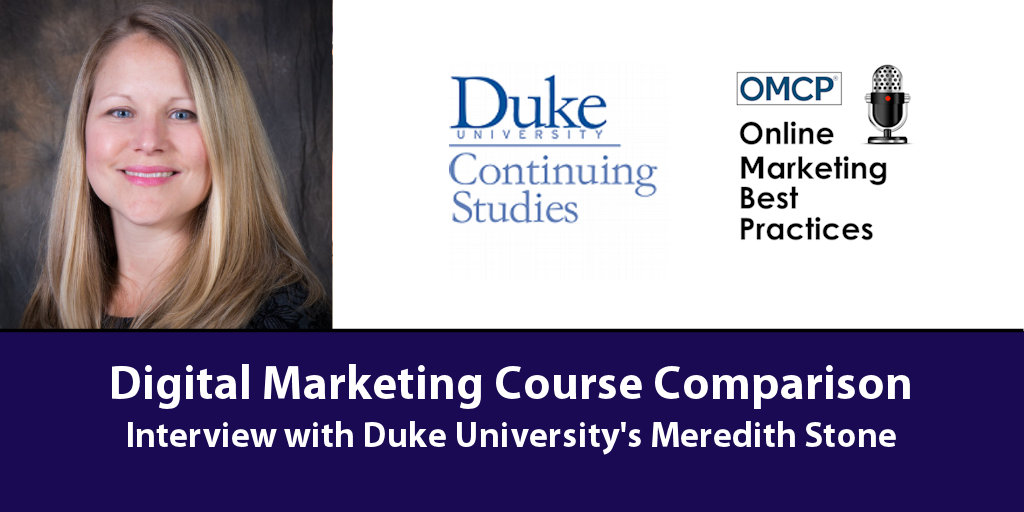 Digital Marketing Course Comparison Duke University OMCP